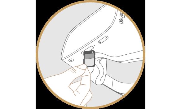 DPVR-4DにSDカードを挿入している図