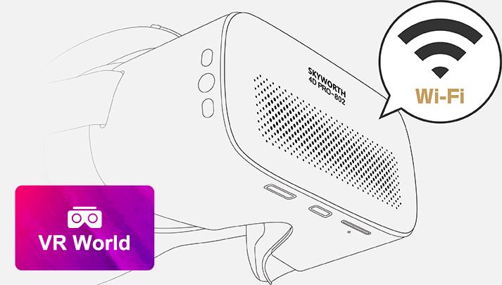 SKYWORTH 4D PRO-802を店舗に持ち込んでWi-Fiに接続するだけで視聴可能です!